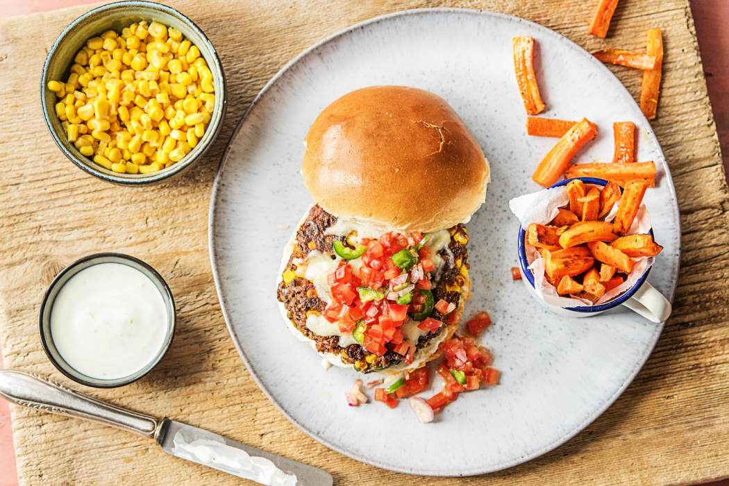 meatloaf burgers-HelloFresh-black bean burgers