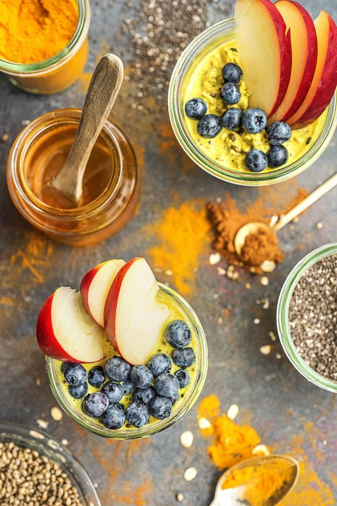 maple syrup recipes-overnight oats-turmeric-golden-milk-HelloFresh