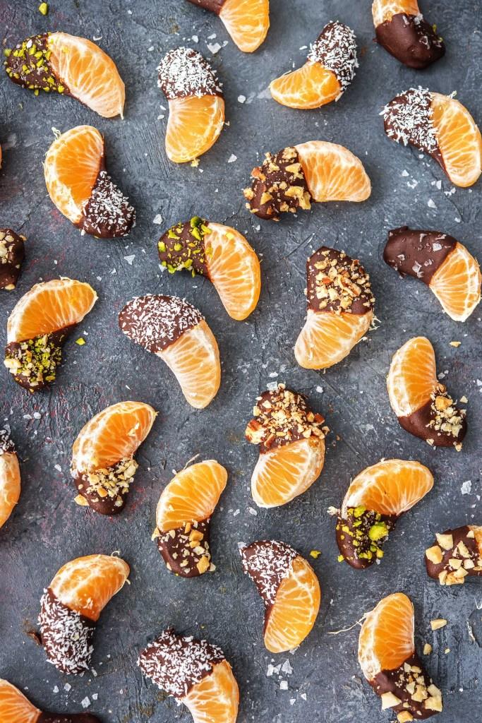 Orange Chocolate-HelloFresh-Dessert-Chocolate dipped-Clementines