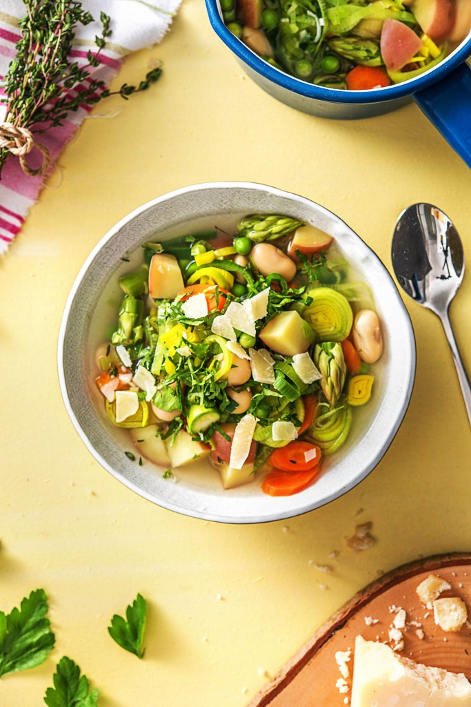spring-summer soups-recipes-HelloFresh-minestrone