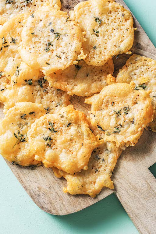 types of cheeses-HelloFresh-crispy-parmesan-crisps
