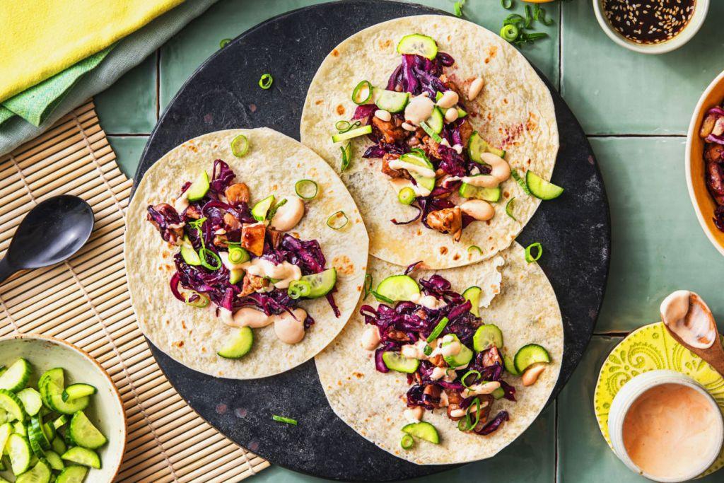 quick and easy recipes-20-minute-meals-HelloFresh-bulgogi-chicken-thigh-tacos
