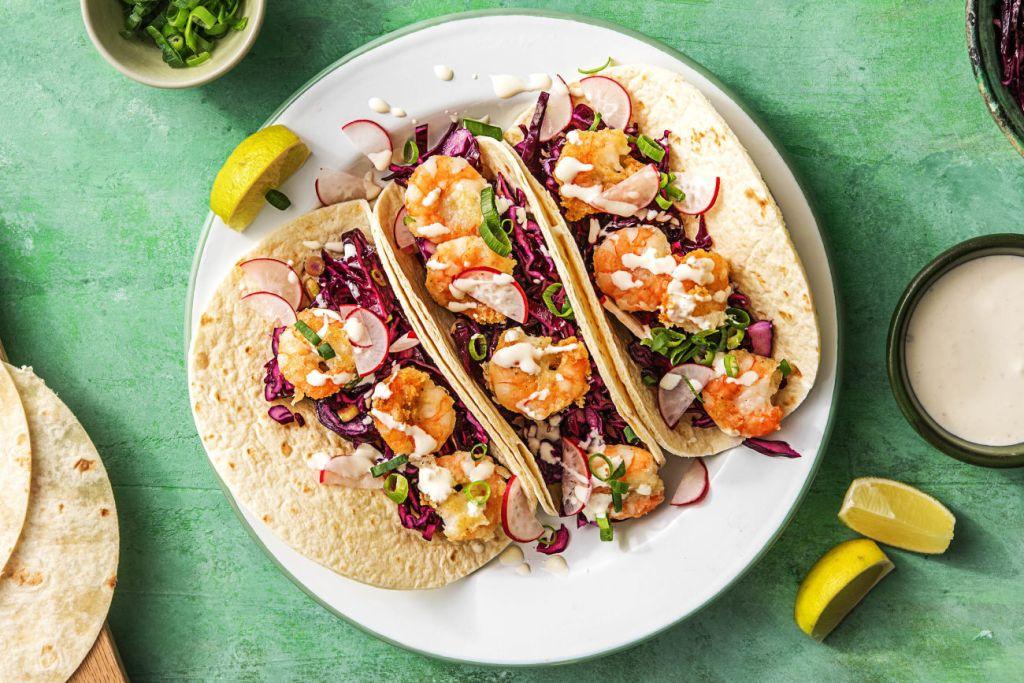 quick and easy recipes-20-minute-meals-HelloFresh-crispy-chipotle-shrimp-tacos