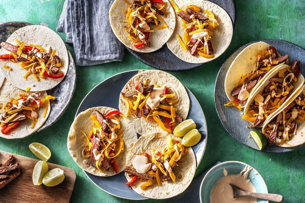 quick and easy recipes-20-minute-meals-HelloFresh-steak-fajitas