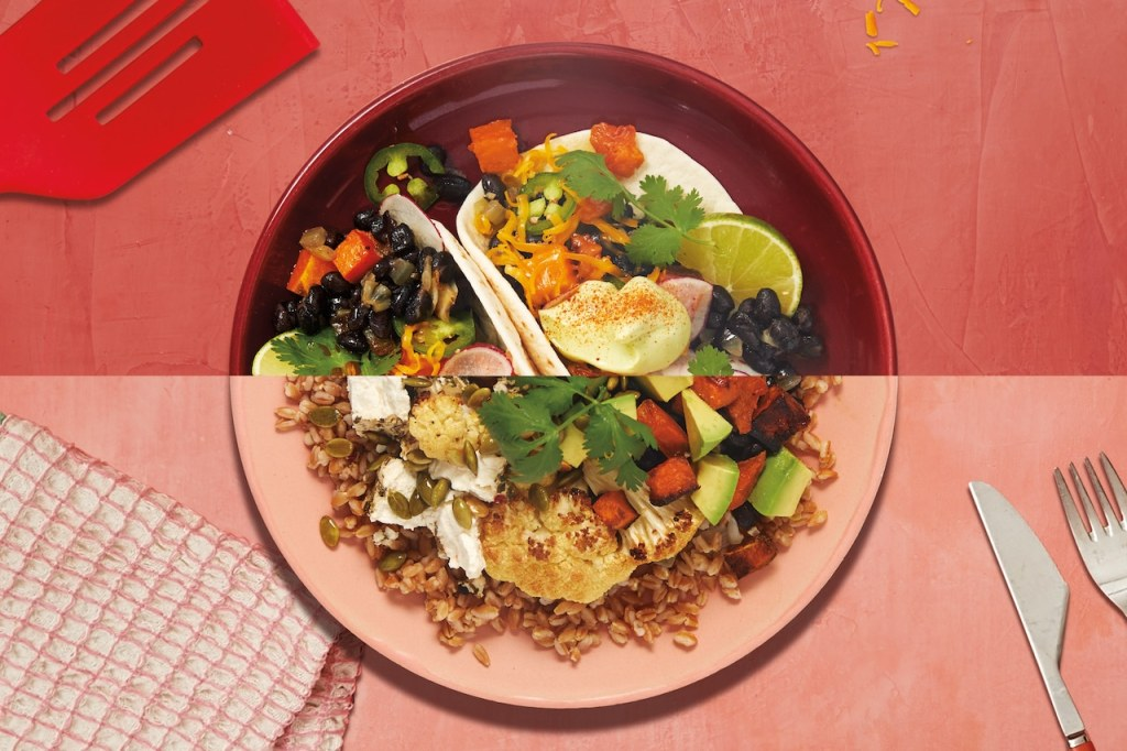 easy lunch ideas for work-veggie-tacos-grain-bowl-dinner-2-lunch-HelloFresh