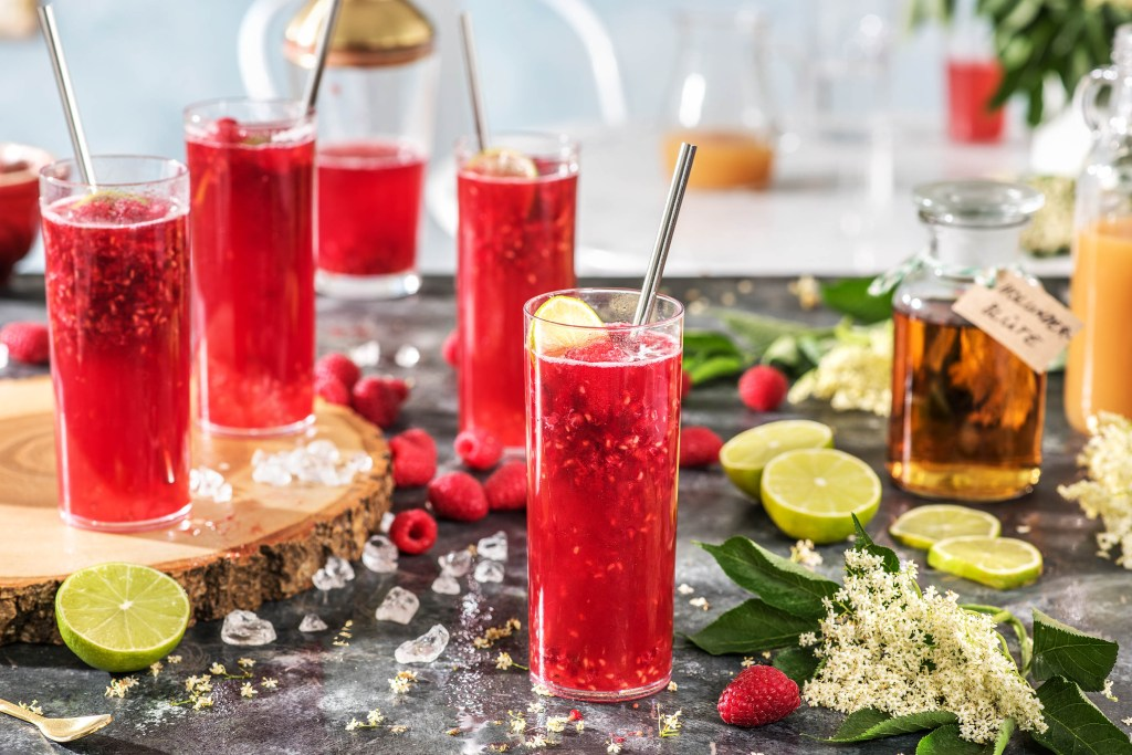 raspberry-elderflower-mocktail-HelloFresh