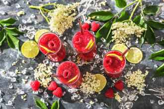 Raspberry Elderflower Mocktail Recipe