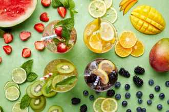 4 Colorful White Wine Spritzer Combos
