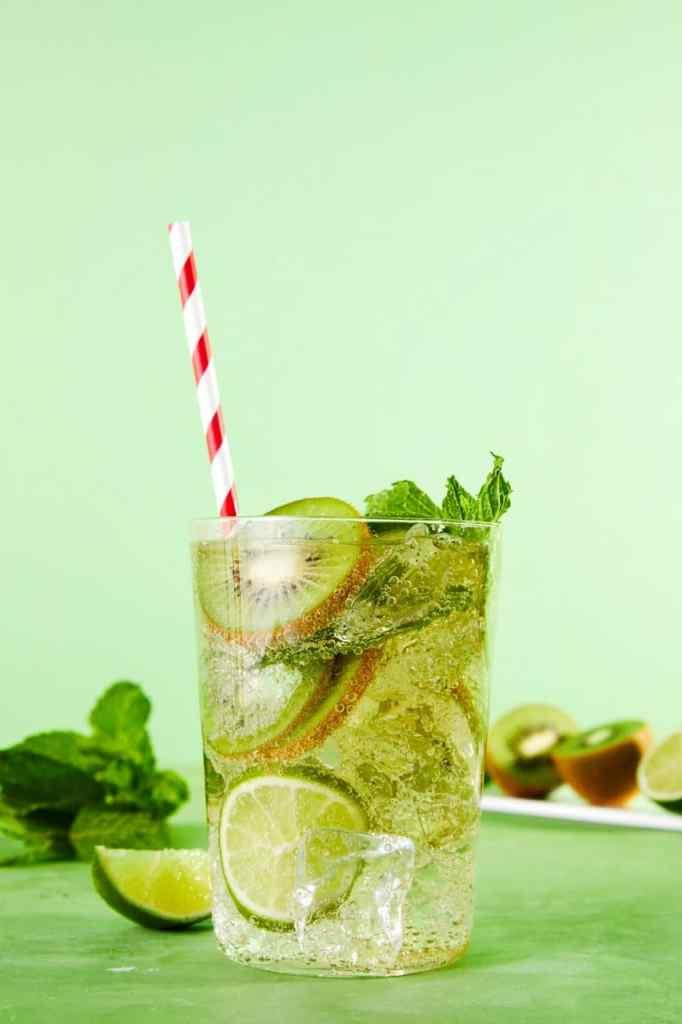 White Wine Spritzer-HelloFresh-Kiwi-Mint-Lime