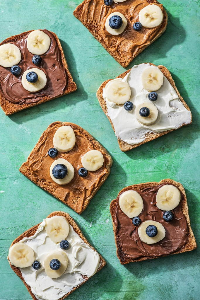 snack ideas for kids-bear-toast-HelloFresh