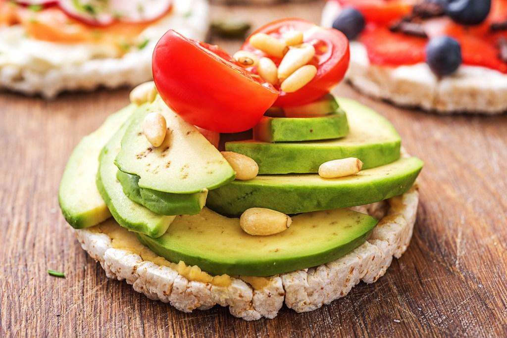 easy snacks-rice cakes-avocado-tomatoes-HelloFresh