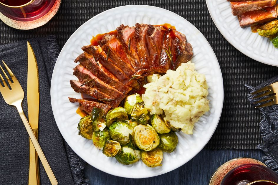 HelloFresh-holiday recipes-Rosemary-Mustard-Sirloin-Steaks