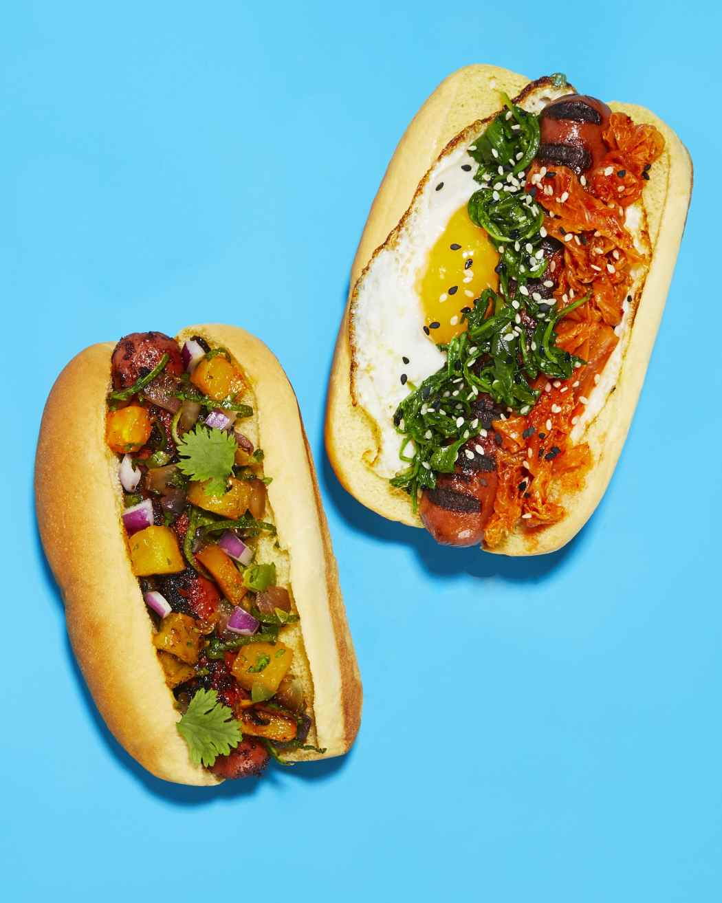 Caribbean Jerk Hot Dog + Bibimbap Dog