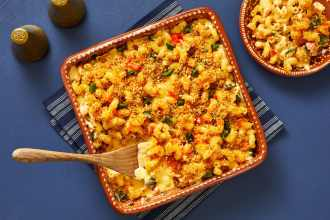 comfort food poblano mac and cheese