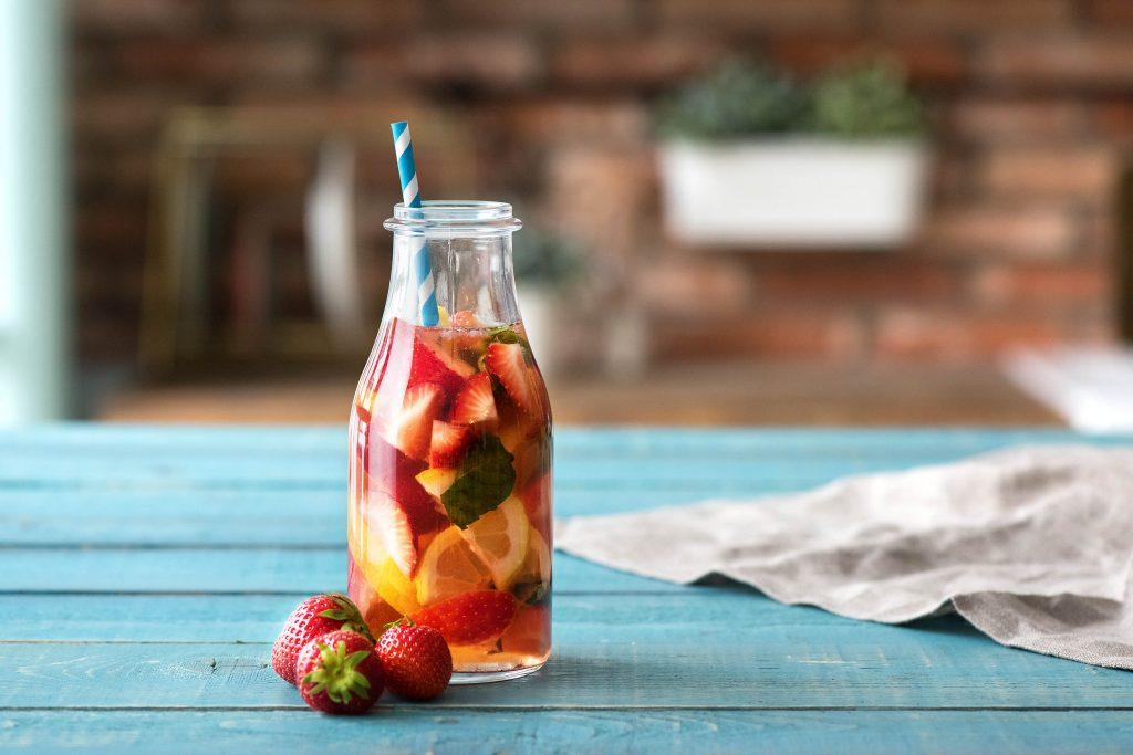 Das Wasser mit Geschmack - Erdbeeren