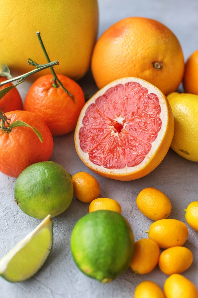 Zitrusfrüchte Liste: Limette, Mandarine, Pomelo, Grapefruit, Kumquat