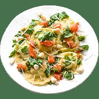 Agnolotti in Tomaten-Kresse-Soße