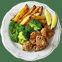 Hähnchen Nuggets mit Brezen-Panade