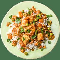 Indische Paneer-Gemüse-Pfanne mit Cashewkernen