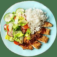 Tonkatsu mit eingelegtem Gemüse