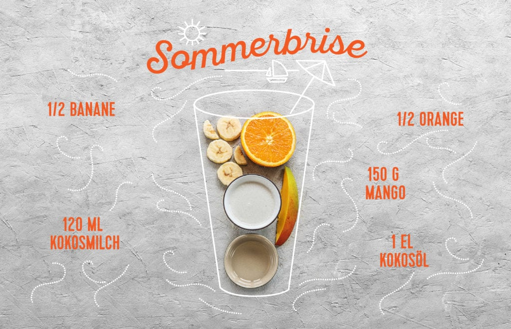 Unsere drei Sommer-Smoothies: Sommerbrise