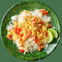 Indischer Gemüse-Linsen-Eintopf