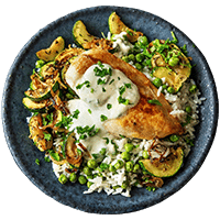 Marokkanische Zucchini-Hähnchenbrust