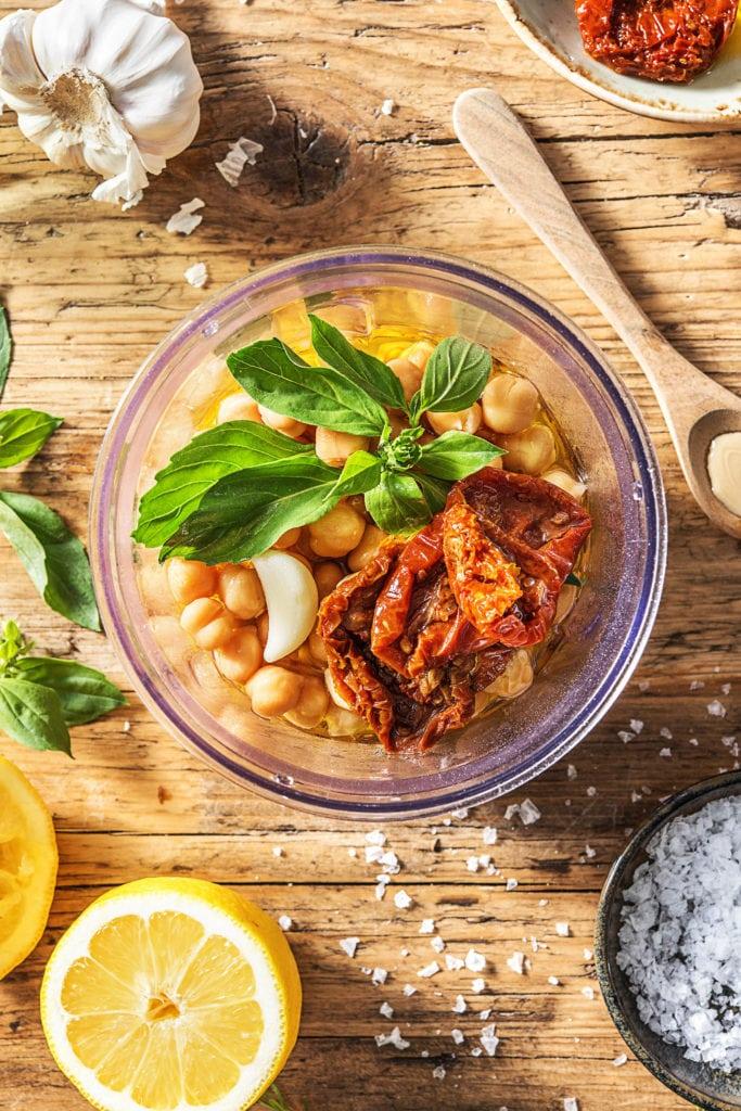 Sommerlicher Hummus Zutaten
