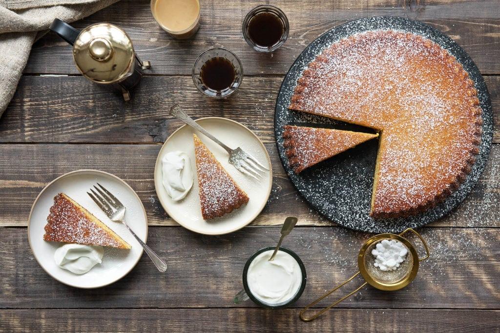 Kuchen enthält jede Menge Zucker
