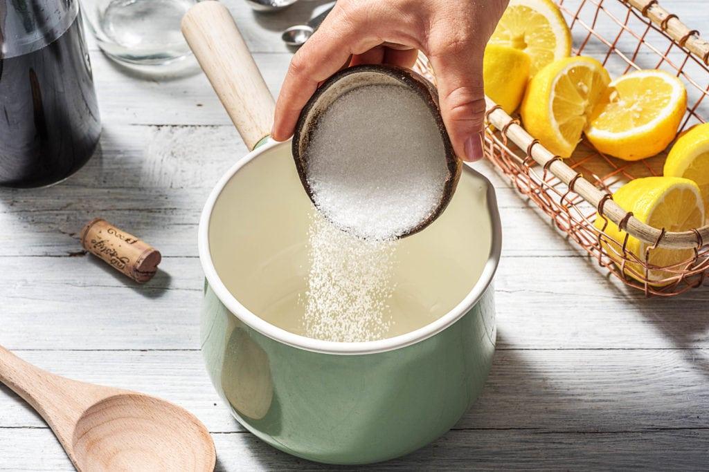 Schritt 1: Zuckersirup zubereiten