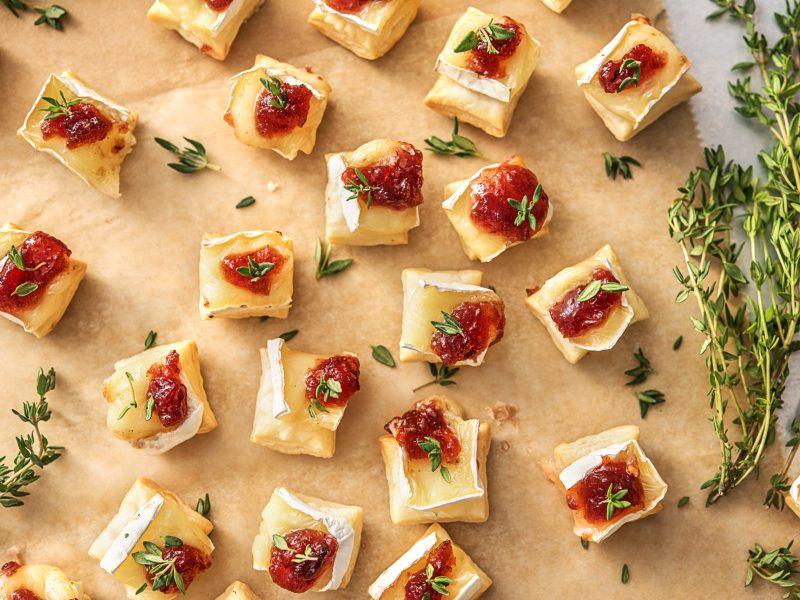 Cranberry und Brie Häppchen