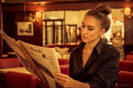 Taking a Break in a Viennese Café