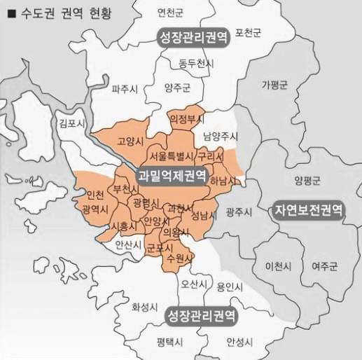 법인설립 - 수도권 과밀억제권역