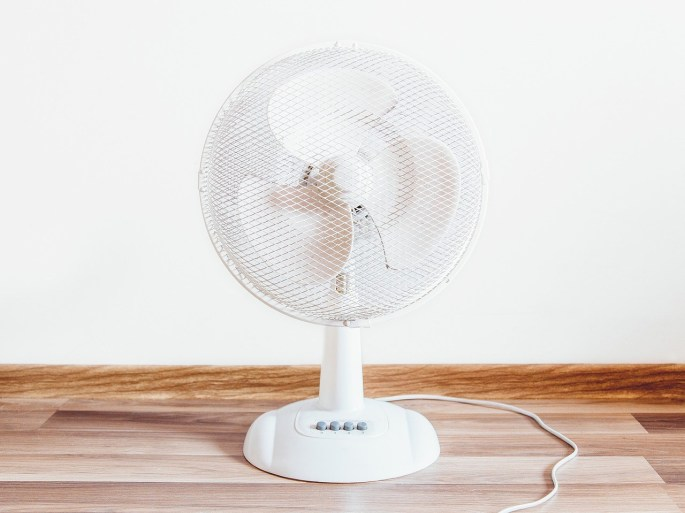 A fan can bring huge difference to the room temperature