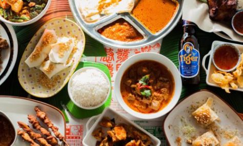 malaysian food, asian cuisine, feast, big meal, delicious food, authentic street food in asia