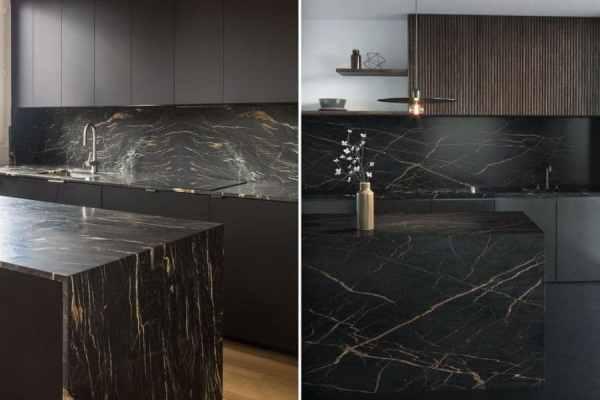 cuisine marbre doré