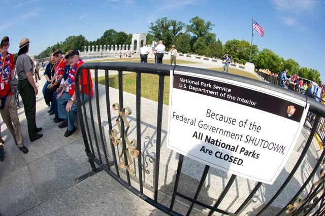 World War II Memorial (Credit: KAREN BLEIER/AFP/Getty Images/Newscom)