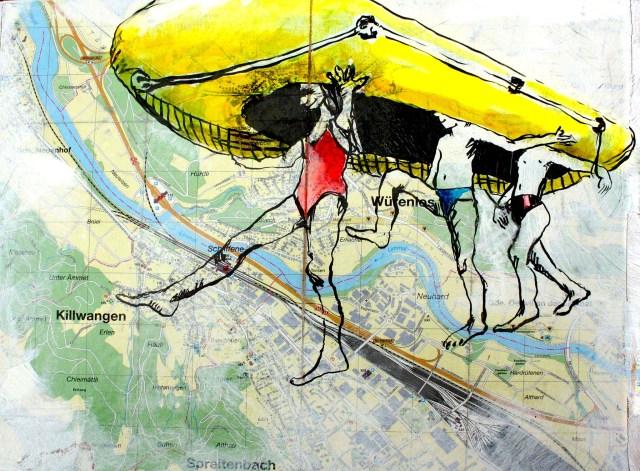 Gummiboot Zeichnung Skizze Illustration Tine Klein