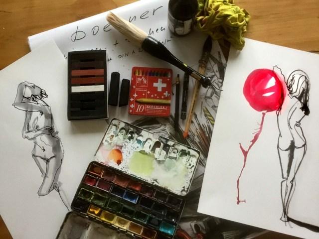 Materialliste Tine Klein figürliches Zeichnen Workshop
