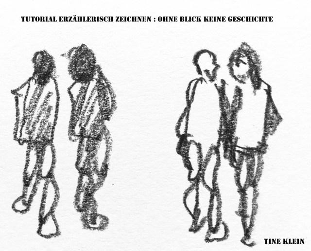 Tine Klein, Tutorial erzählerische Zeichen, Menschen zeichnen, Blog.Herz-der-Kunst.ch