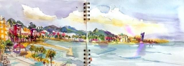 Farben des Viviva Colorsheets, Blog Herz der Kunst, Tine Klein, Reiseaquarellkasten