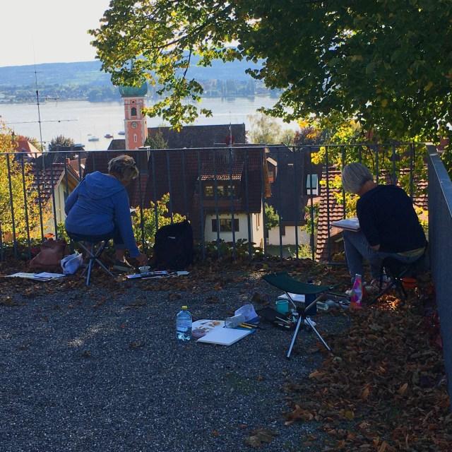 Talent Übung machts Aquarell Kurs in Allensbach mit Tine Klein