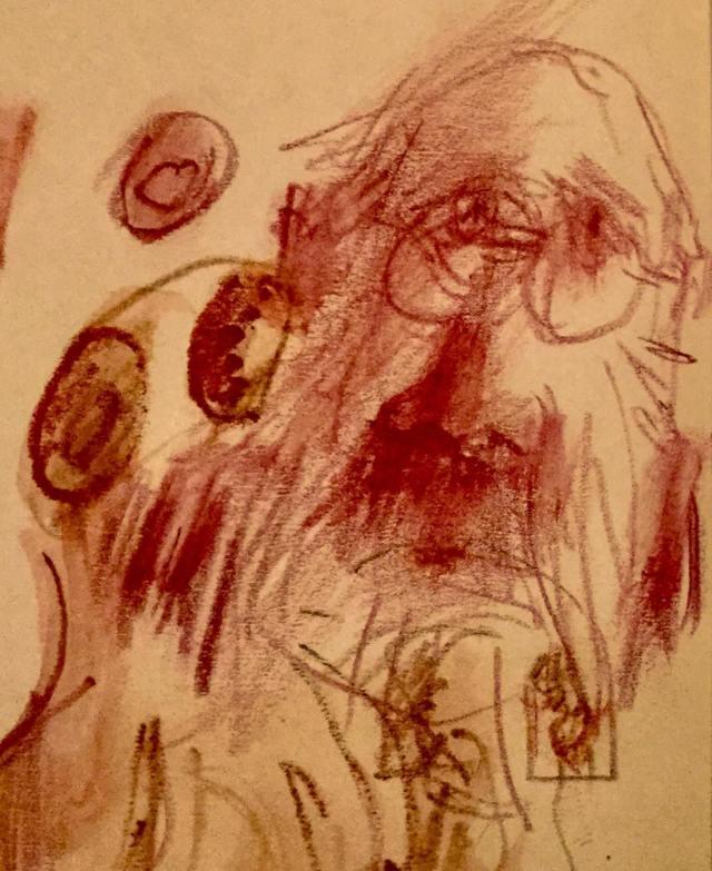 Selbst - Portät von Elmar Huxol, Im Tutorial von Blog Herz-der-Kunst.