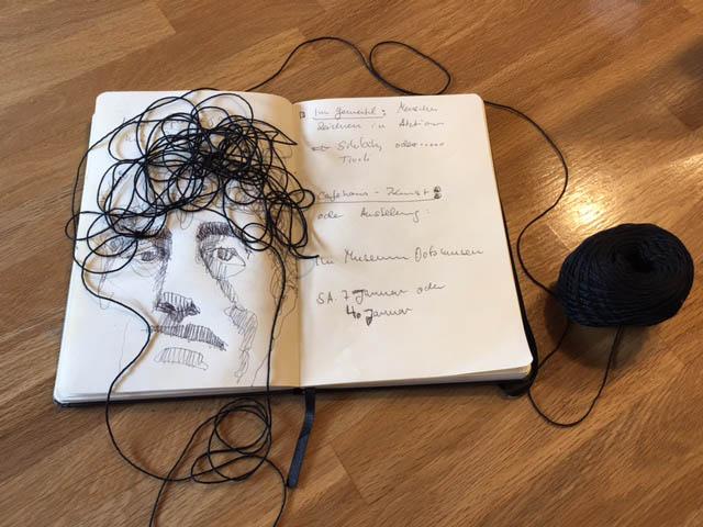 Tine Klein ein spielerisches Porträt von Giacometti