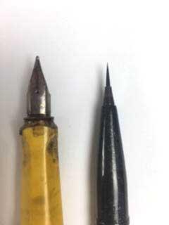 Aus dem Tutorial line and wash und brush pen