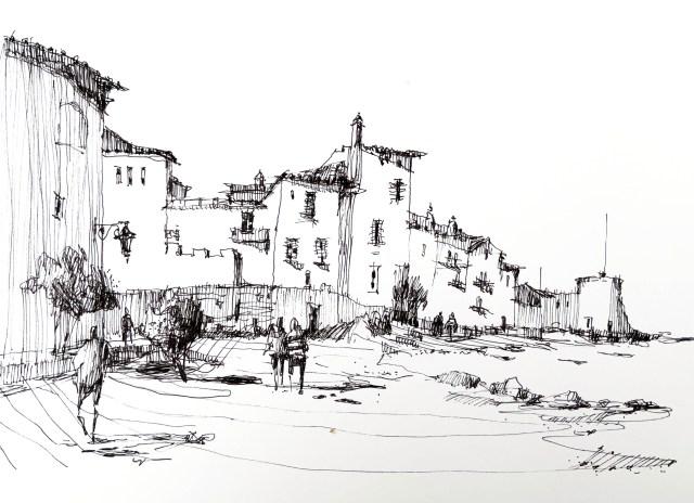 Tine Klein, Blog Zeichnen lernen, das Prinzip der Variation, Tusche, St.Trophe