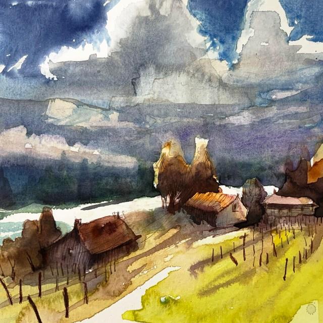 Tine Klein Anleitung Wolken malen. Herz der Kunst.