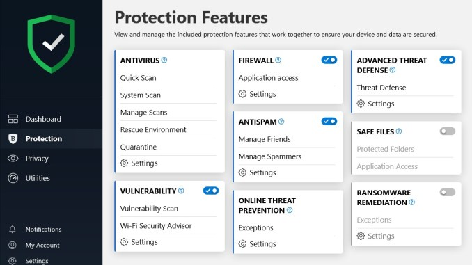 BitDefender 2020 Section Protection