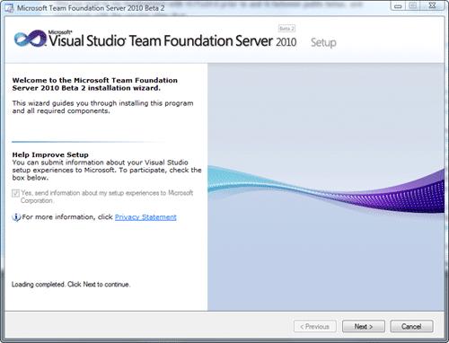 Microsoft Team Foundation Server 2010 Install