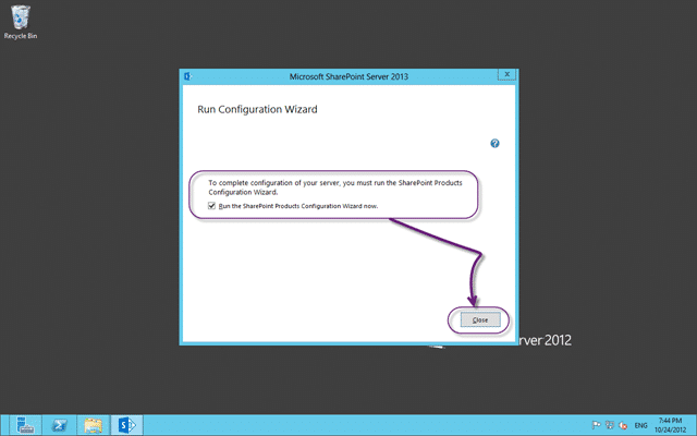 Run the Configuration Wizard for SharePoint 2013